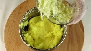 Нежные телячьи щечки на подушке из картофельного пюрес сыром Гарганзола