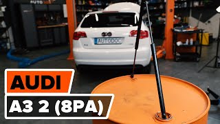 Wie AUDI A3 Sportback (8PA) Bremstrommel auswechseln - Tutorial