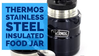 Thermos Stainless Steel Insulated Food Jar Hot Cold Vacuum Bottle