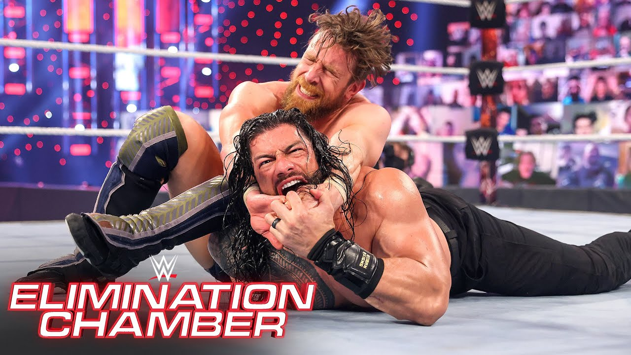 """Daniel Bryan shocks Roman Reigns with """"Yes!"""" Lock: WWE Elimination Chamber (WWE Network Exclusive)"""