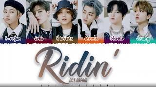 Gambar cover NCT DREAM – 'RIDIN' Lyrics [Color Coded_Han_Rom_Eng]