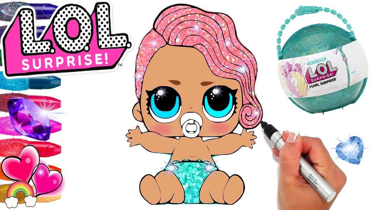 LOL Lil Treasure Pearl Surprise Coloring Page | LOL