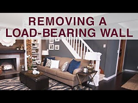 Removing a load bearing wall diy network youtube for Can a load bearing wall be removed