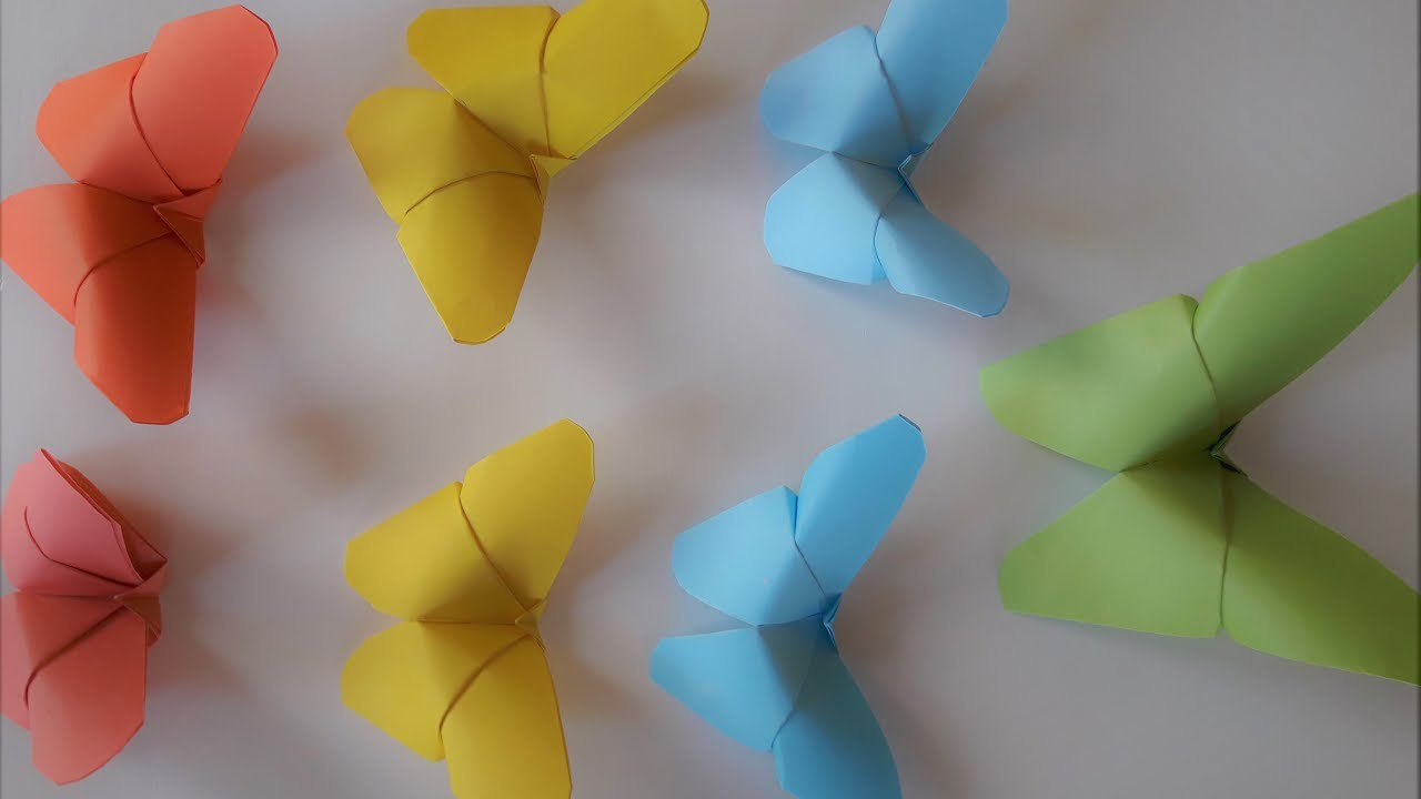 how to make paper rose and butterfly