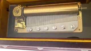 Vintage Reuge 3 / 72 Music Box Jewelry Box