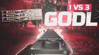 1 vs 3 GodL | Tier 1 Scrims | Pubg Mobile