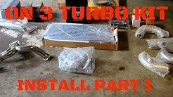 2v mustang On 3 Performance turbo install part 1