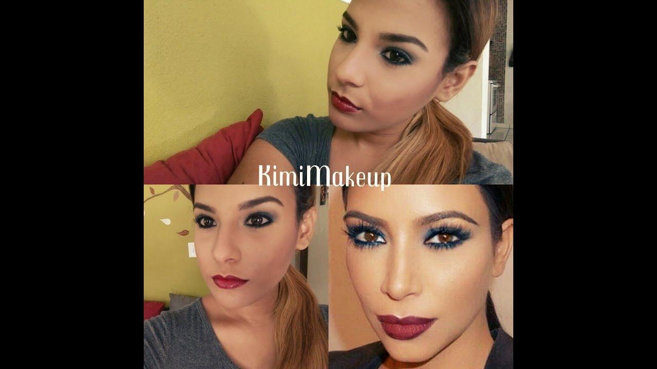 maquillaje inspirado en kim and contouring technique