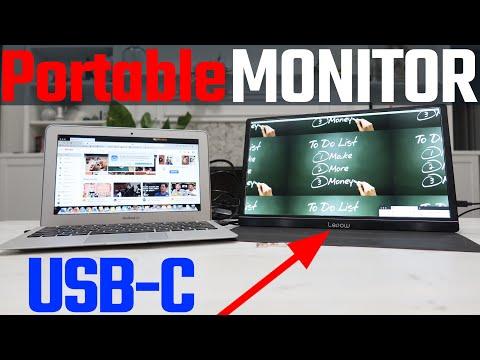 Lepow HD Portable Monitor 15.6 Inch USB C + HDMI + Dual Speaker