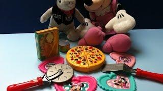 Đồ Chơi Bánh Pizza Chuột Minnie Cắt Bánh Pizza (Bí Đỏ) Pizza Kids Set Toy New