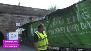 ASDA lorry gets stuck in Harrogate