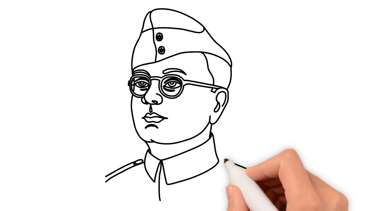 How to draw netaji subhas chandra bose face step by step drawing for kids colorsma