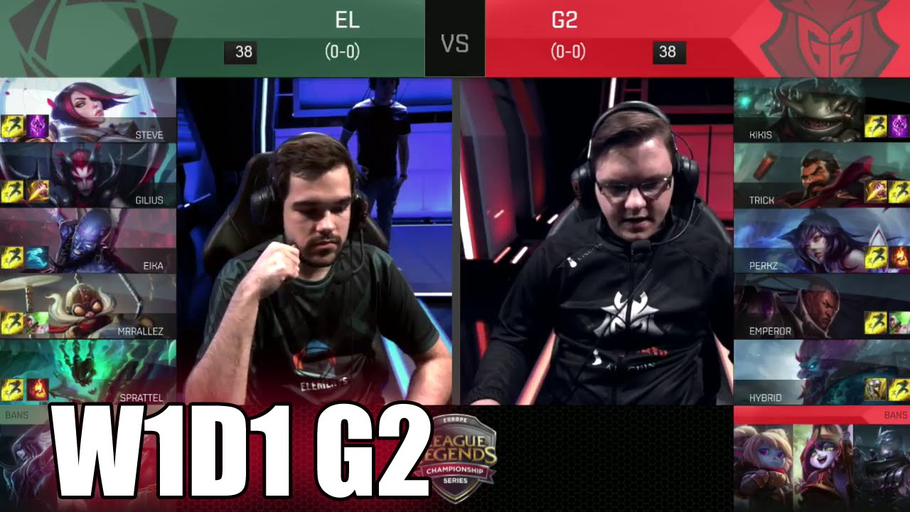 G2 Esports: Week 1 Day 1 S6 EU LCS Spring