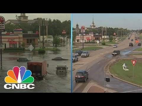 Dickinson, Texas Before And After Flooding From Hurricane Harvey | NBC