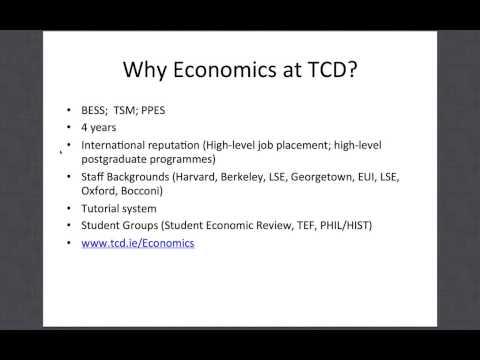 Economics - Trinity Open Day 2013