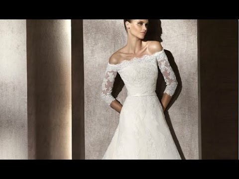Wedding Dress Off Shoulder Lace Sleeves - YouTube