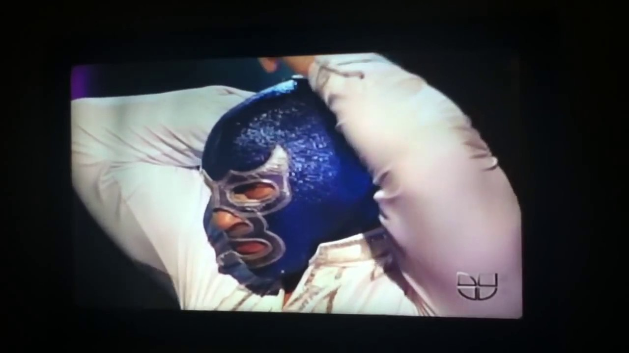 Blue demon jr Se quita la mascara en la TV YouTube