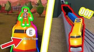 How to DRIVE the JAILBREAK TRAIN!!! | Roblox Jailbreak Rails Unlimited