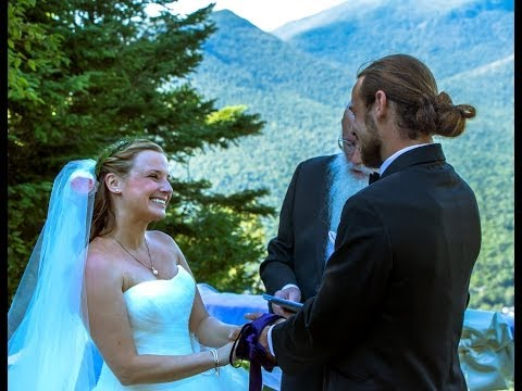 Justin and Genevieve's Wedding Ceremony on the top of Loon Mountain