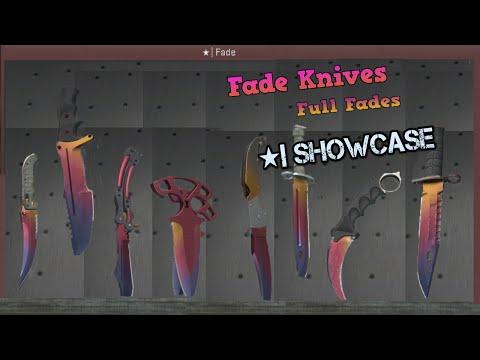 CSGO: Full Fade Knives SHOWCASE