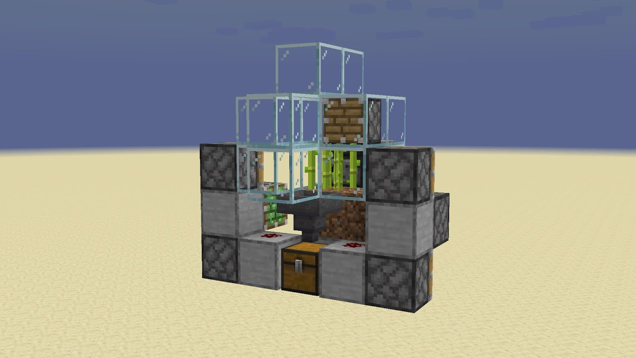 8 Tick Sugarcane Farm Minecraft