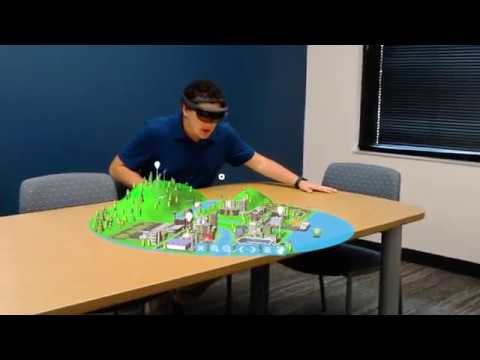 Smart City for Clean Energy   VR and HoloLens Application