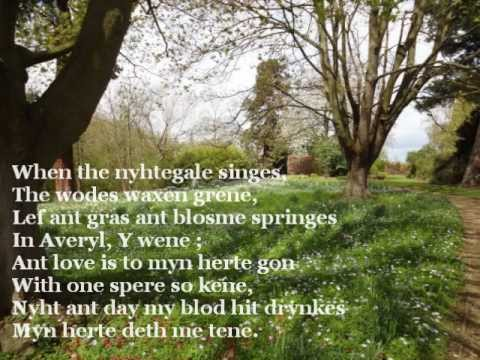 When the nightingale sings (Middle English poem)