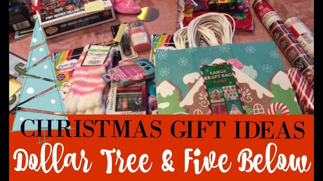 Christmas Gift Ideas | Dollar Tree & Five Below Haul | 2017 - YouTube
