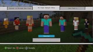 MineCraft - Xbox 360: Free Skins for MineCraft - How to Get Free Skins in MineCraft for the Xbox 360
