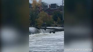Fishing boat with two people onboard capsizes in Grand River