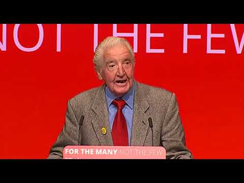 Dennis Skinner speaking at the Labour Party conference