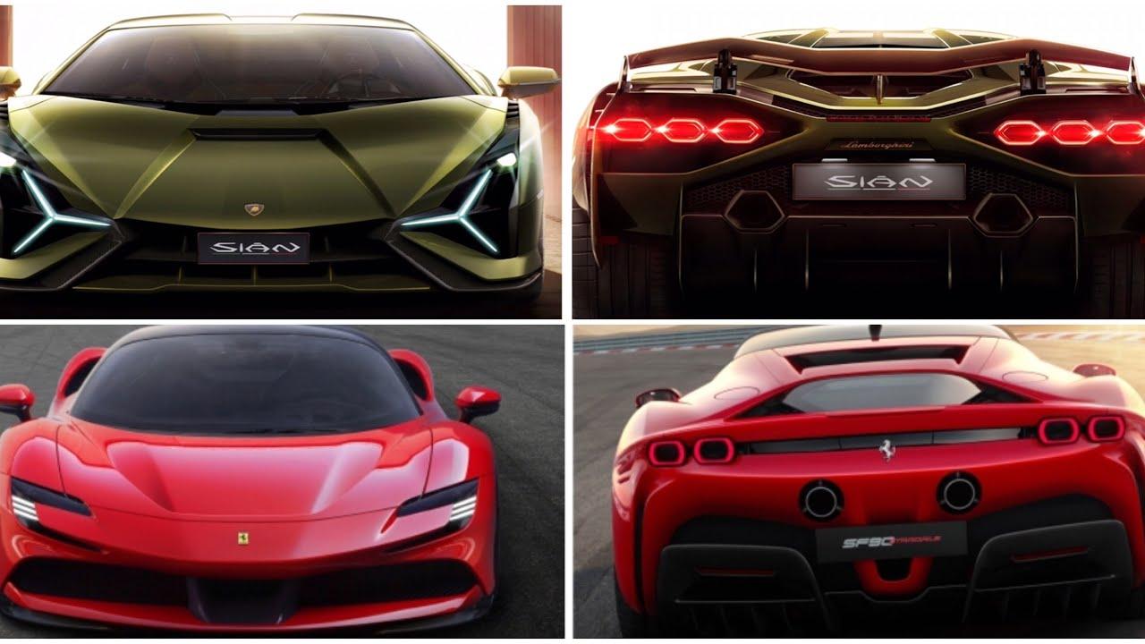 Lamborghini sian vs Ferrari sf90