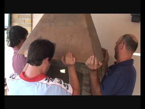 Stone Brique Barbecue assembly(Brick BBQ) /Montaje Barbacoa de Piedra/  Brick Barbecue en pierre