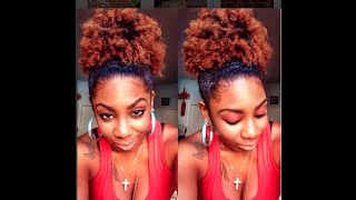 Natural Hair | High Puff Tutorial
