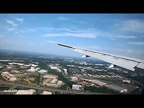 Emirates 777-300ER Breathtaking Landing at Washington Dulles + Mobile Lounge Ride
