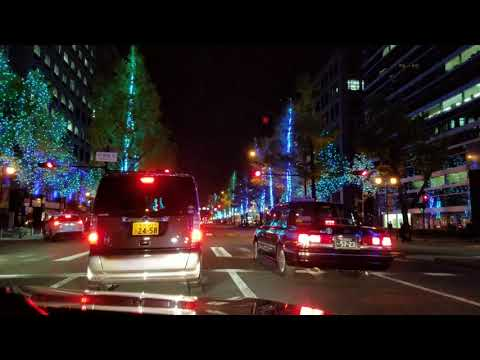 [4K]御堂筋イルミネーション2017 Midosuji Avenue Illumination 2017 - Osaka Japan Festival of Lights