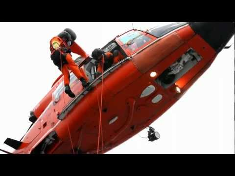 US Coast Guard And USCG Auxiliary - Helicopter Rescue Ops Training - Clip 3