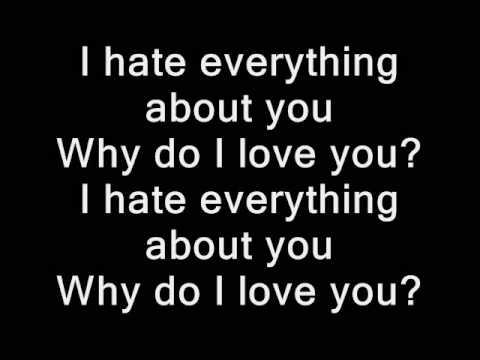 Three Days Grace - I hate everything about you (lyrics)