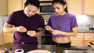 Tran Can Cook! & Mc Barao Maxim Hometown Hottie: Banana Choco Chip Cookies & Bacon Wrapped Dates