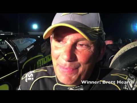 Brett Hearn wins at I-96 Speedway, August 6, 2013