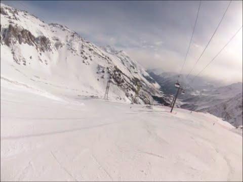 Эльбрус: 110 км/час на горных лыжах