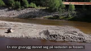 Fjerning av grusrygg i Vallaråi