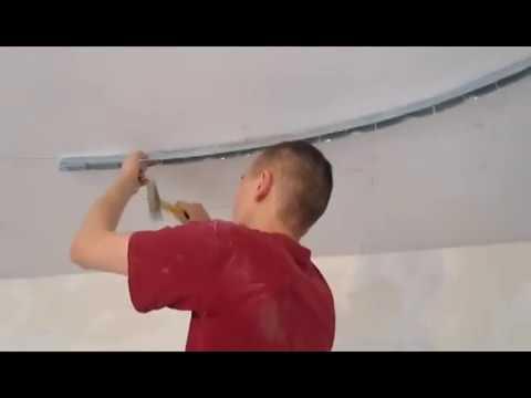 видео: Монтаж  двухуровневого навесного потолка из гипсокартона