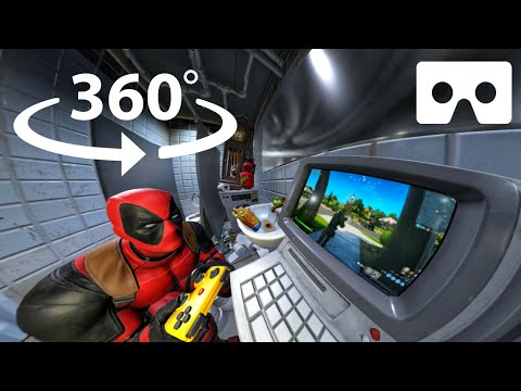 360° Deadpool Playing Fortnite  | Off Camera Secrets | Week 3 Fortnite Chapter 2 Season 2 In VR