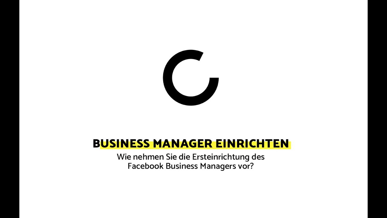 10 – Facebook Business Manager einrichten - YouTube