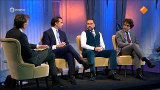 Baudet (FvD) met Dijkhoff (VVD) en Klaver (Groenlinks) bij de politicus van het jaar verkiezing