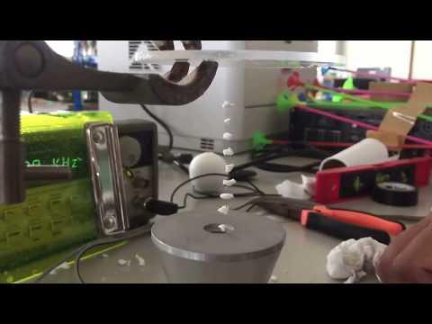 Acoustic levitation using 25 kHz Ultrasonic transducer