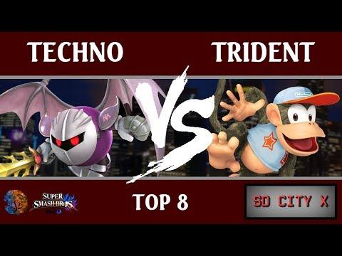 SDC X - Techno (Meta Knight, Diddy Kong, Marth) vs. Trident (Diddy Kong, Corrin) [Top 8]