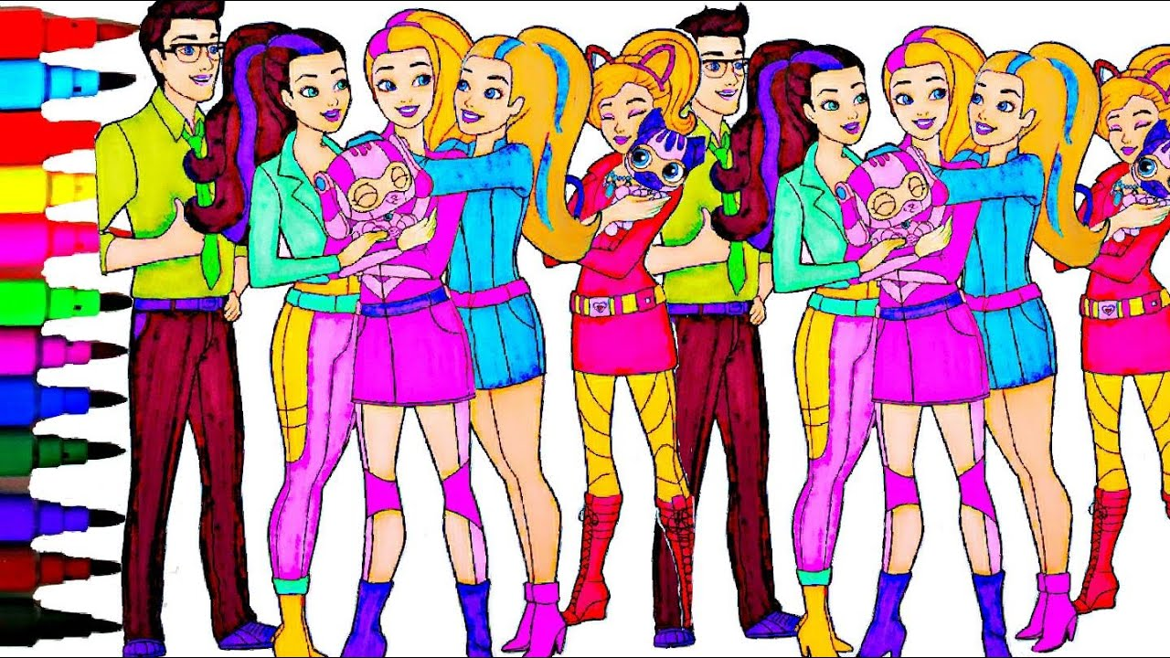 Barbie Coloring Book Videos Spy Squad Kids Fun Activities Learning