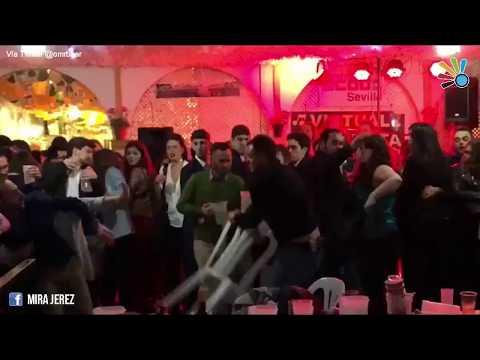 Monumental pelea en la caseta de CC OO en la Feria de Abril de Sevilla